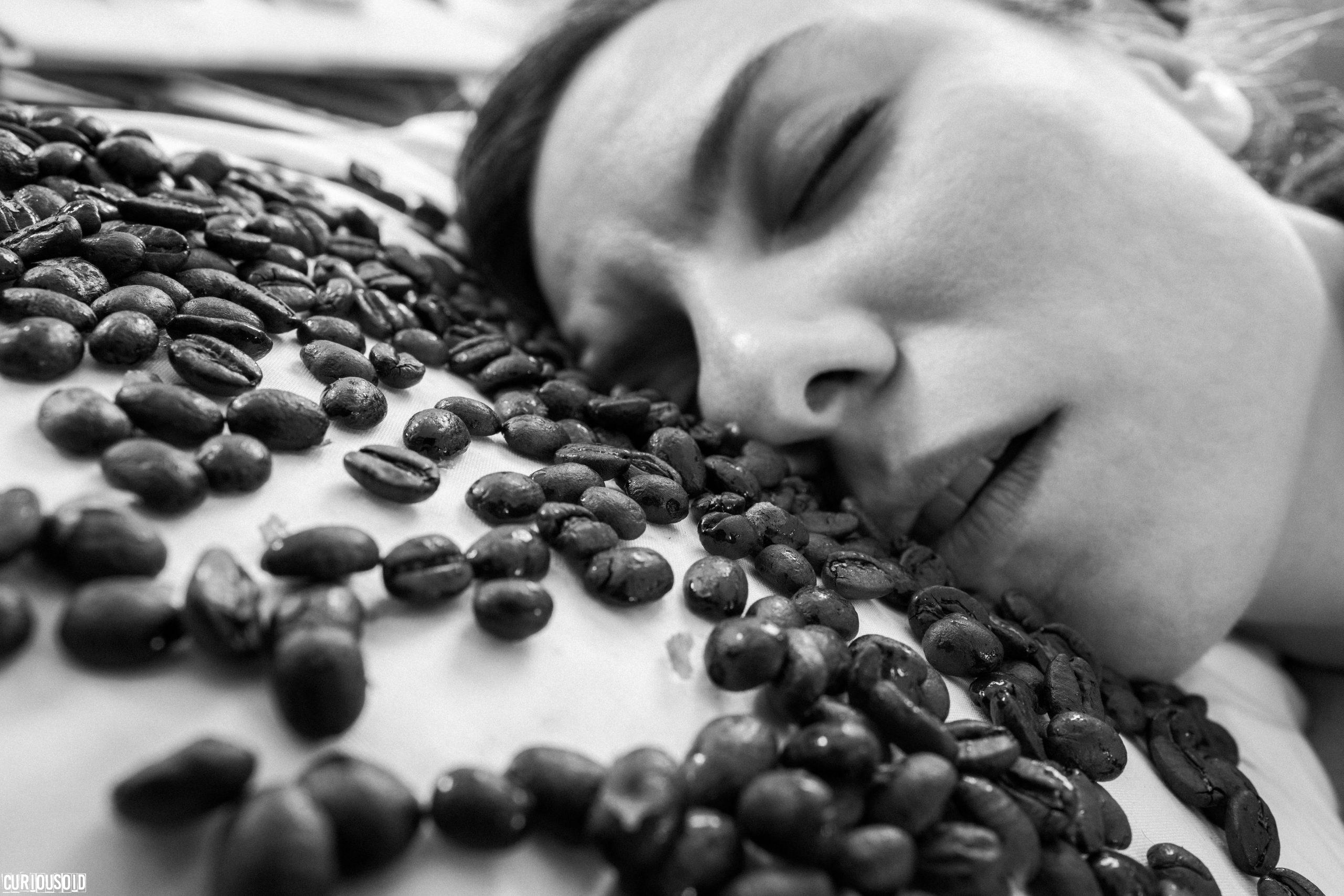 smelling coffee while sleeping